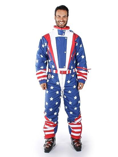 Amazon Mens Brand New American Flag USA Ski Suit