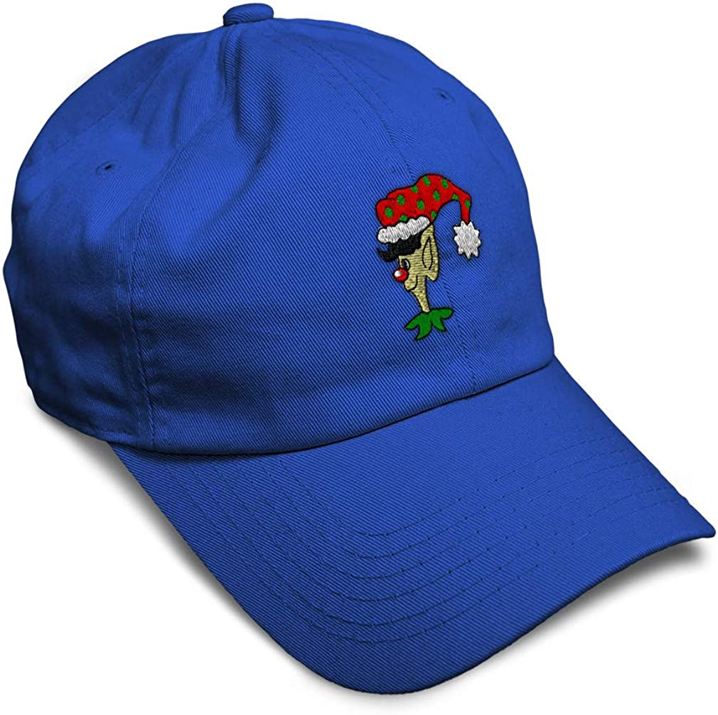 Custom Soft Baseball Cap Christmas Elf Embroidery Dad Hats for Men /& Women