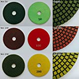 4'' inch Professional Diamond Wet Polishing Pad(Grits : 400)