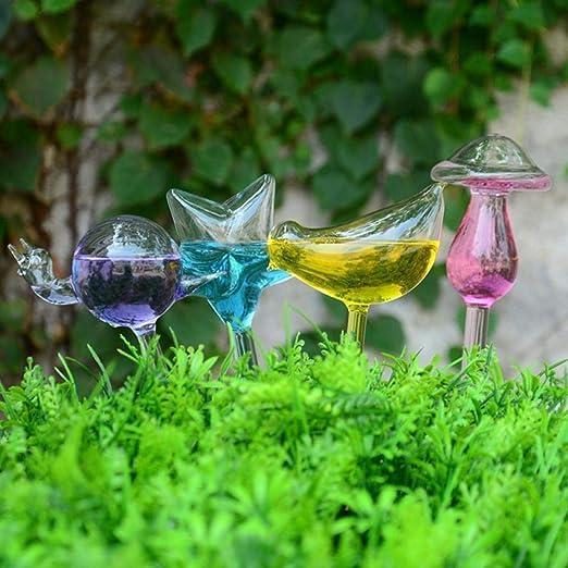 Guanshui-ophu-01 6 Estilos Casa/Jardín Planta de Interior Automático Riego automático Pájaro Regaderas Latas Flores Planta Vidrio Decorativo Riego: Amazon.es: Hogar