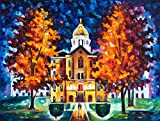 GOLDEN DOME MEMORIES (Notre Dame University) by Leonid Afremov. GOLDEN DOME MEMORIES is a GALLERY EXCLUSIVE. It is only available from Firerock Fine Art. This was a private commission piece done for an Alumnus of Notre Dame. No current Student or Alu...