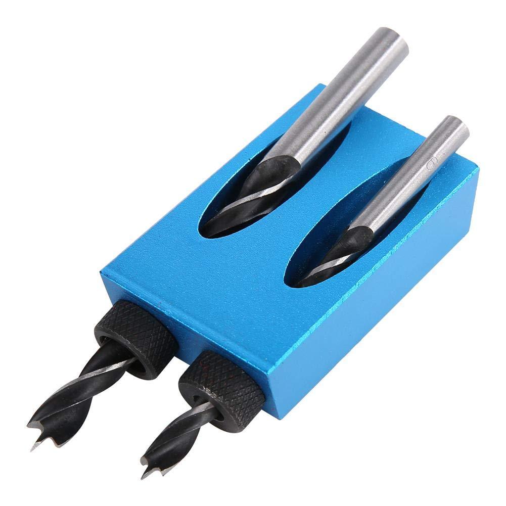Set 15 Degree Hole Angle Drilling Locator Guide du Menuisier en Aluminium Qinlorgo D/étecteur de Foret dangle 14pcs