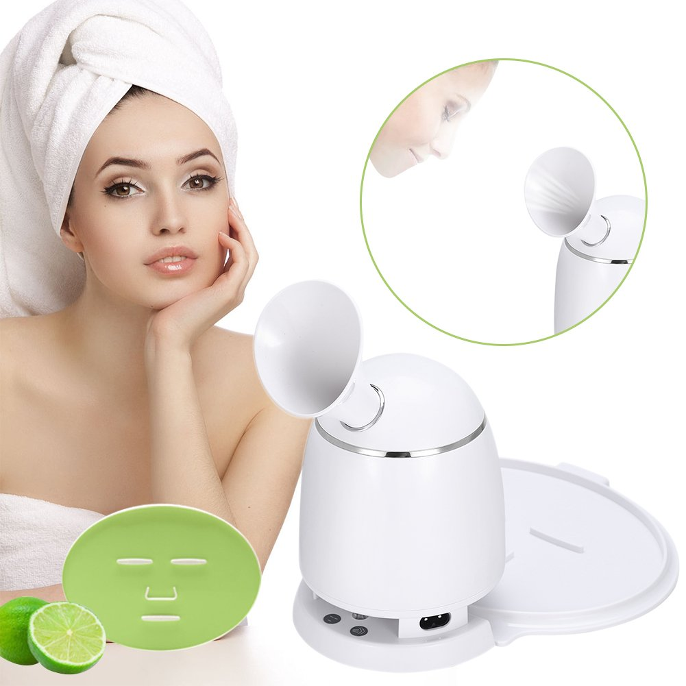 2in1 Ionic Facial Steamer And Fruit Mask Machine, Multi-function DIY Natural Fruit Vegetable Mask Maker, Hot Mist Moisturizing Personal Skin Care Beauty Tool (Machine with Collagen) ZJchao