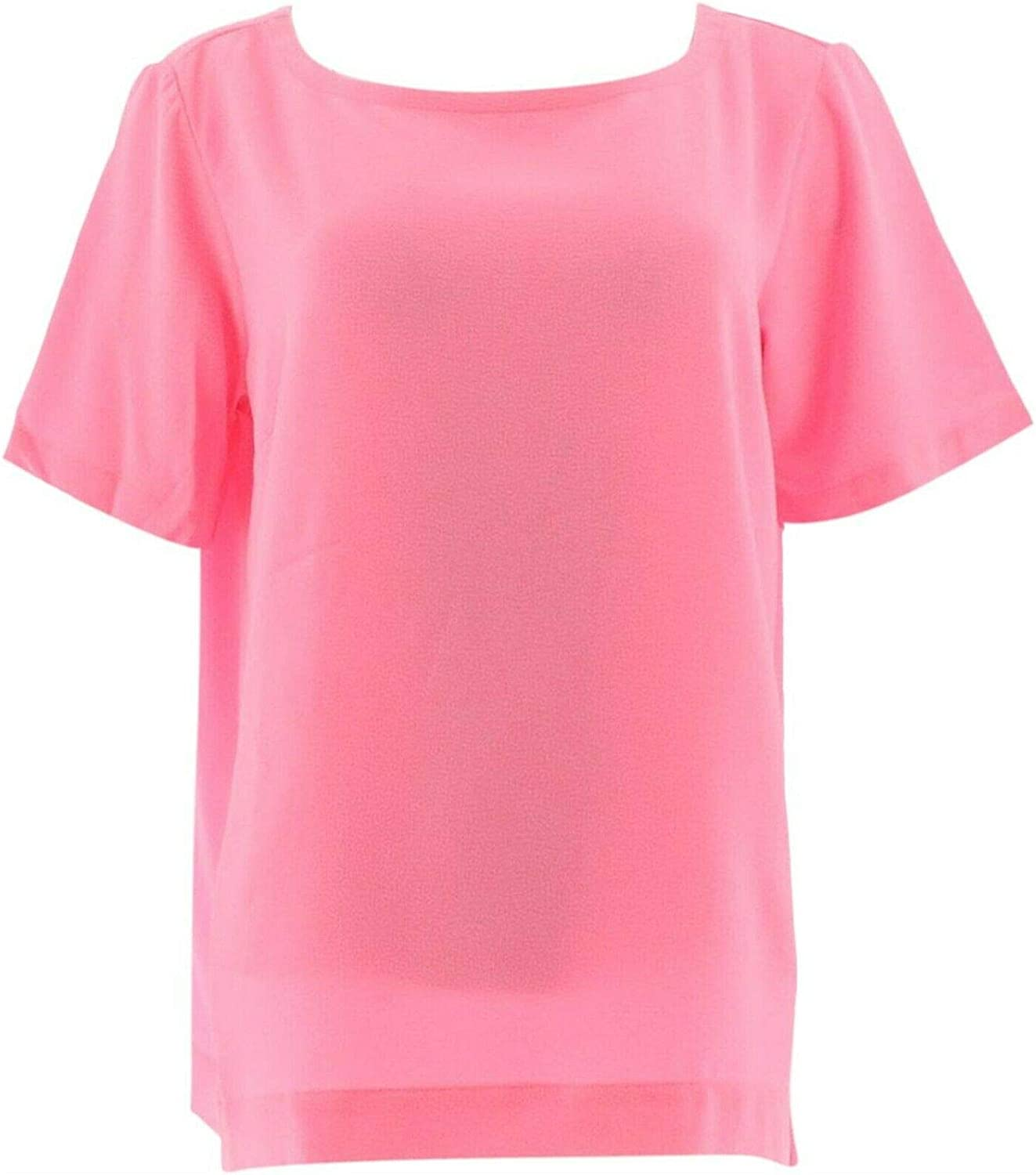 Linea Louis Dell'Olio Gauze Short SLV Tee Bright Pink M New A290928