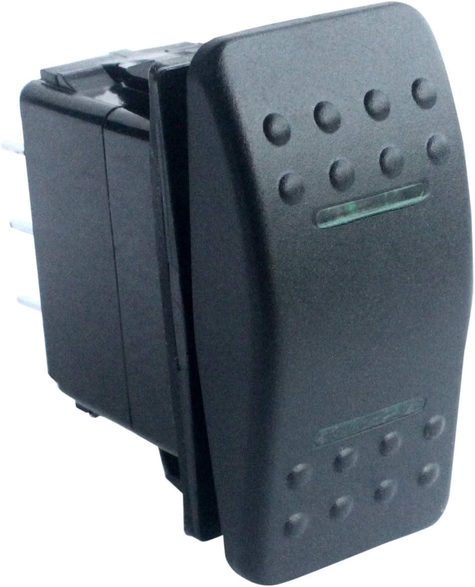 HYY Interruptor DPDT blanco LED 7 pines ON//OFF//ON Rocker para Narva ARB Carling estilo Marine Grade 12 V 24 V