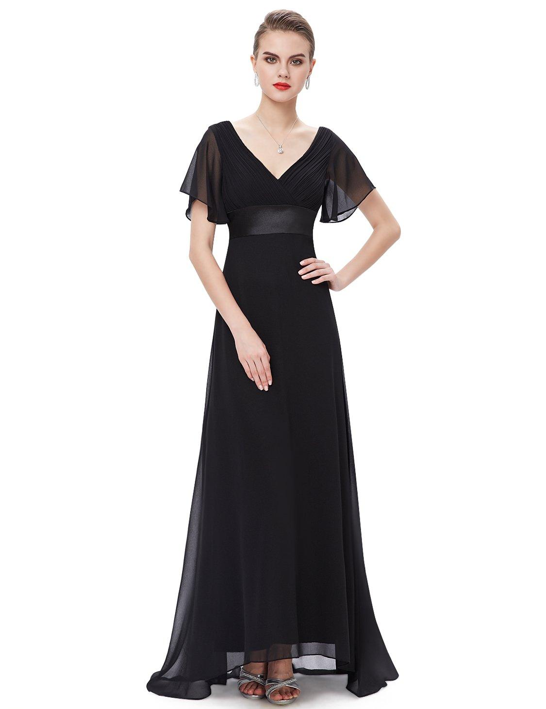 Ever Pretty Women S Short Sleeve V Neck Long Evening Dress