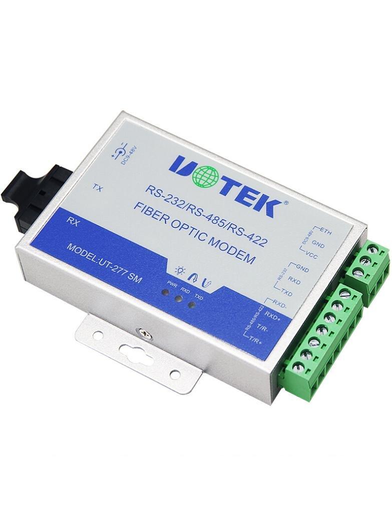 UTEK UT-277SM-SC RS-232/422/485 to Optical Fiber Media Converters by U-Tek