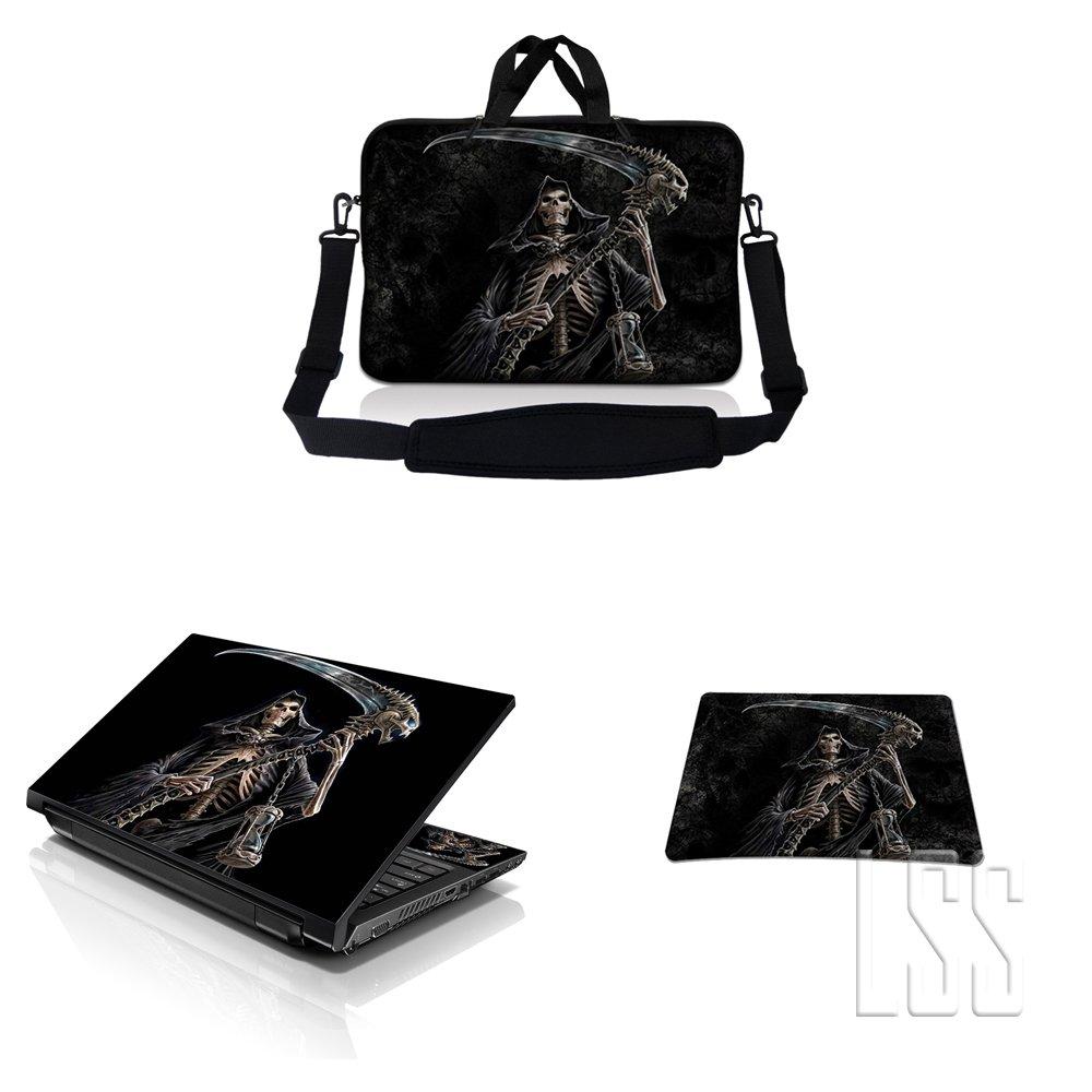 品質が完璧 ノートパソコン& MacBook Reaper ProスリーブバッグキャリーケースW/ハンドル&調節可能なショルダーストラップ& Matchingスキンステッカー&マウスパッドFits 12