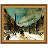 Design Toscano Street Scene with Snow, 1902 Canvas Replica Painting: Large