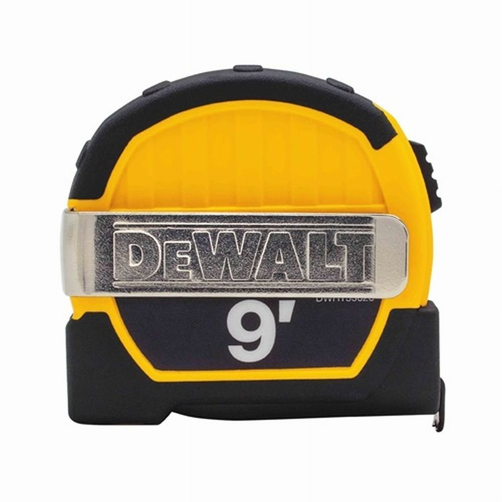 Dewalt DWHT33028M 9ft. Magnetic Pocket Tape Measure, Black and Yellow