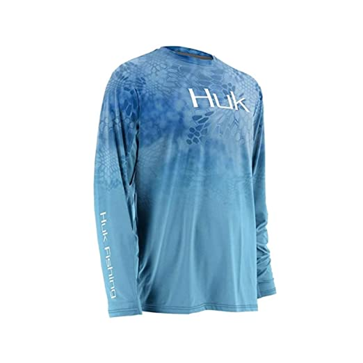 9dd28699a4f Amazon.com: HUK Men's Kryptek Fade Icon Long-Sleeve Tee: Sports & Outdoors
