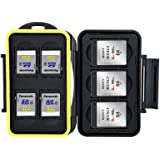 JJC MC-XQDSD7 Compact and Water-resistant Memory Card Case for 3XQD Cards and 4 SD Cards