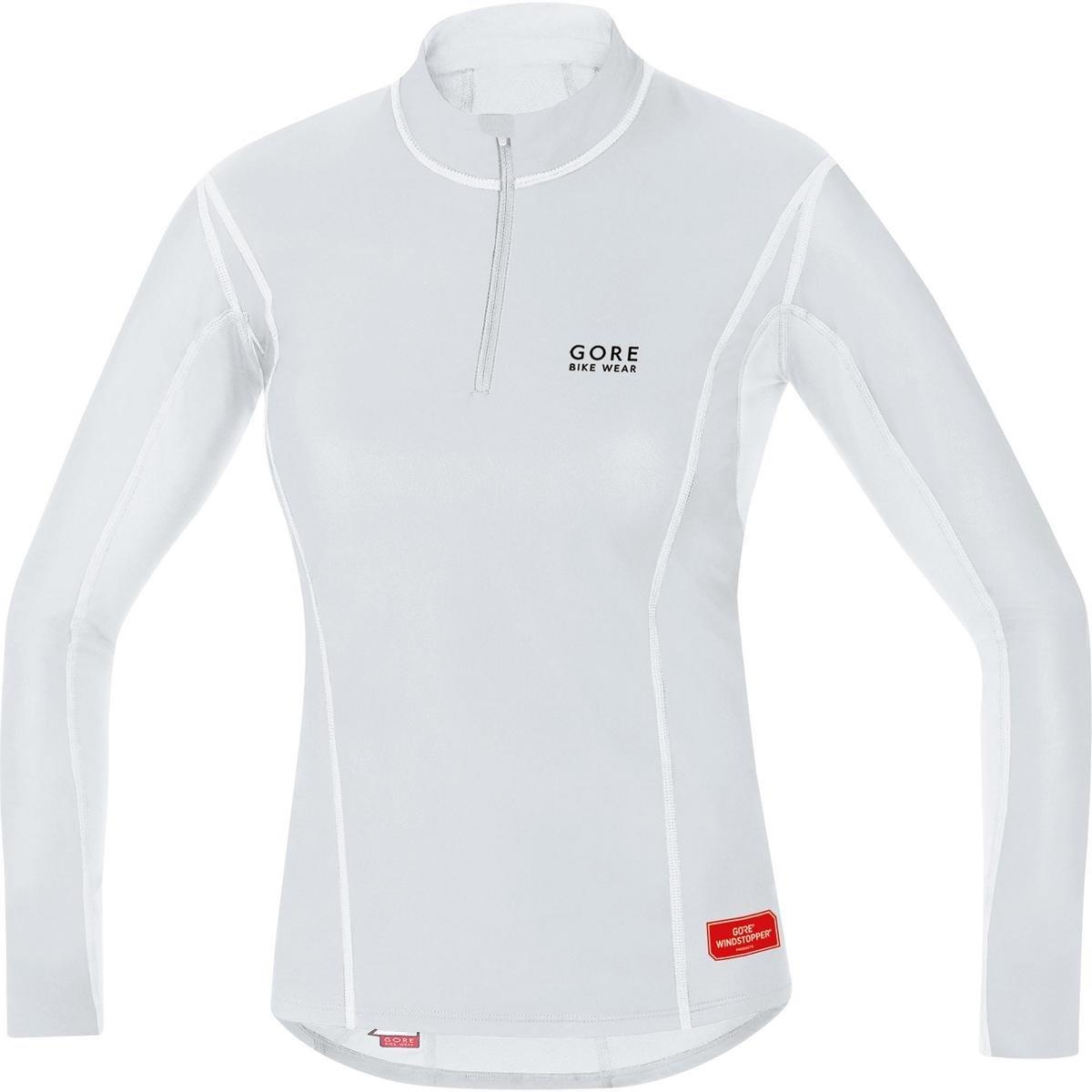 Gore Bike Wear Women's Windstopper  Base Layer Turtleneck Top, Light Grey/White, Large