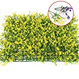 YSBER Artificial Plastic Lawn Encryption Simulation Plant Wall Fake Flowers Fake Lawn Wedding Hall Garden Decorations (Yellow Lucky Lawn)