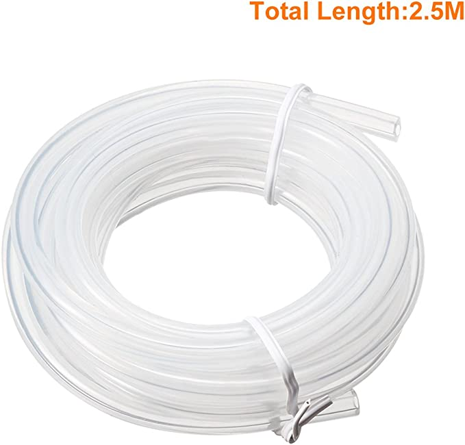 Tuyau flexible tube en silicone transparent r/ésistant /à hautes temp/ératures 2mm x 3mm 2M Longueur