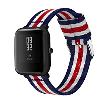 Kokymaker Nylon Correa Xiaomi Huami AMAZFIT Bip Banda/Band/Pulsera/Strap de Recambio 20mm Reemplazo Adjustable Band de Nilón para Smartwatch