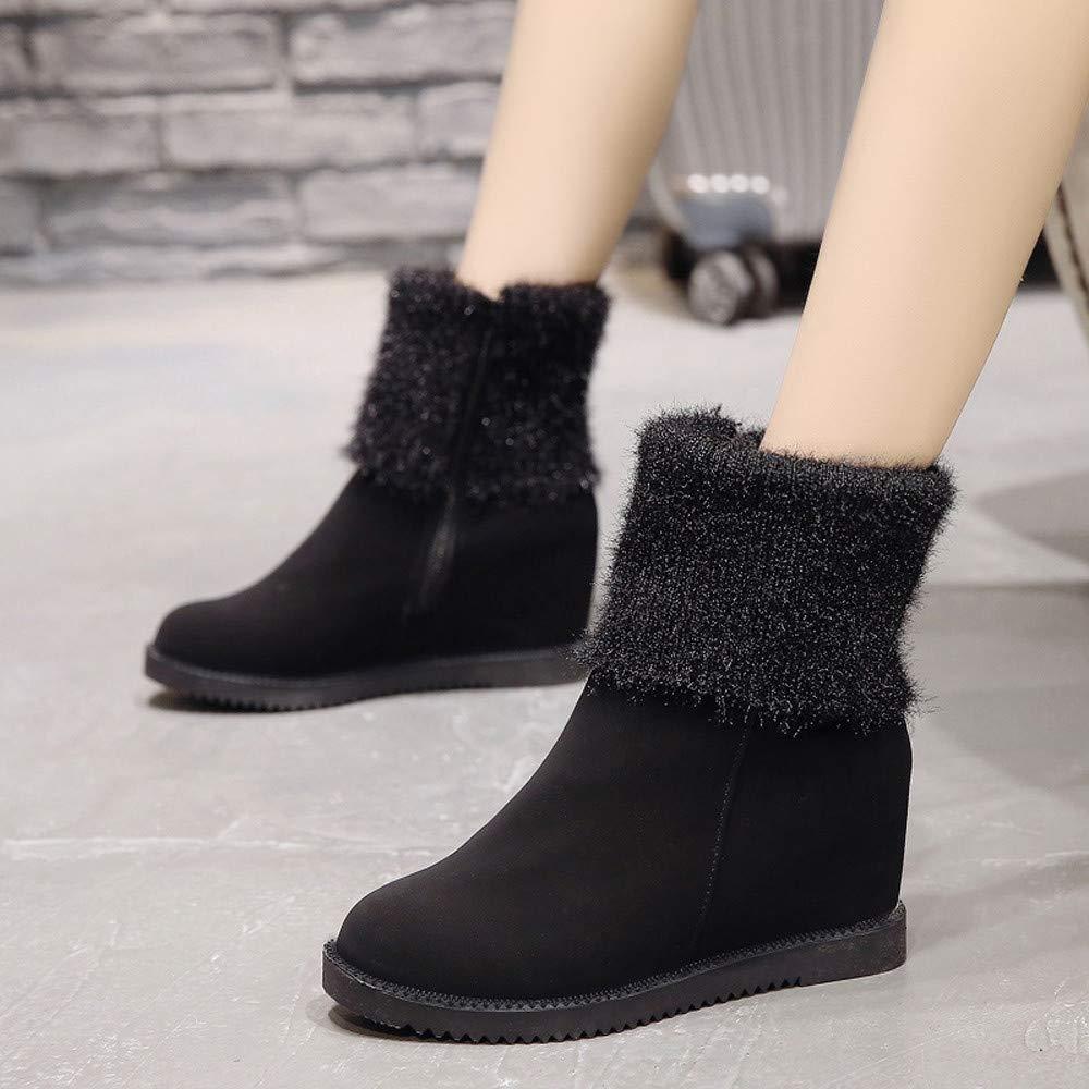 Beladla Botas De Nieve De Las Mujeres Ujer Invierno Moda Botines Conejo Pelaje CuñA Zapatos De Plataforma Calentar Botas De Nieve: Amazon.es: Zapatos y ...