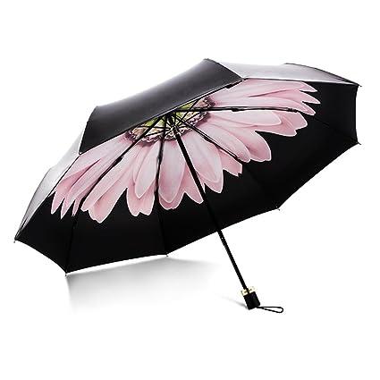 Paraguas de Viaje Plegable Ligero con Mango ergonómico Ultra Ligero a Prueba de Viento Protección a