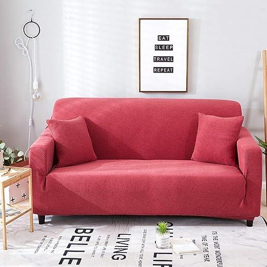 YHviking Toalla Punto sofá,Color sólido Elástico Antideslizante ...