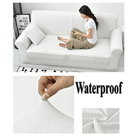 Waterproof High Elasticity Sofa slipcover,Anti-Slip Furniture Protector for pet Dog Sofa Throw pad Solid Cover Couch Cover All Season for u-Shaped ...
