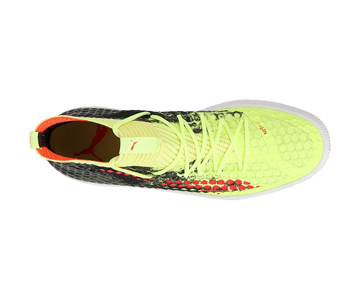 96d49257586 Puma Men s Future 18.1 Netfit Clyde Yellow Football Boots-12 UK India (47  EU) (10489602)  Buy Online at Low Prices in India - Amazon.in