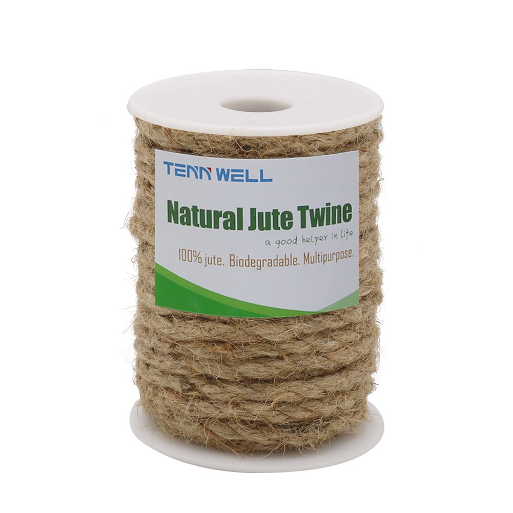 Decorating DIY /& Arts Crafts Brown Bundling Tenn Well 33 Feet 6mm Jute Rope Natural Jute Twine for Gardening