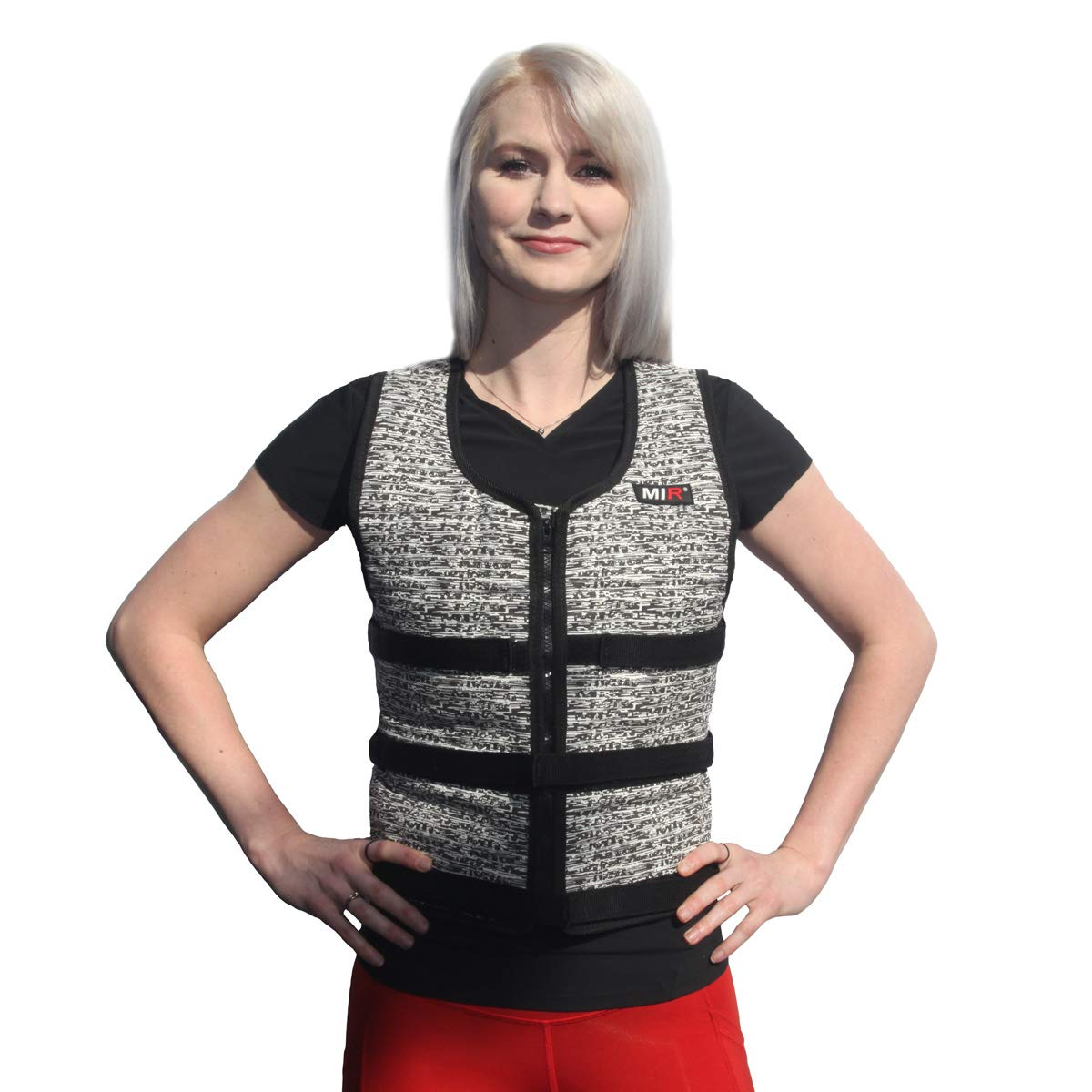 Mir Super Slim AIR Flow Adjustable Weighted Vest Machine Washable. for Men & Women (Black - 16LBS) by Mir (Image #3)