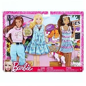 Barbie Accesorios para muñecas - Set vestidos de la moda de ropa - Compras