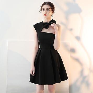 977fc622dc28 Vestido de noche Banquete Mujer Verano Fiesta De Cumpleaños Negro ...