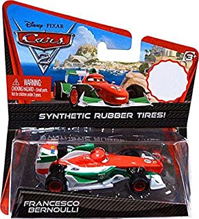 disney pixar cars 2 movie exclusive 155 die cast car with synthetic rubber tires francesco