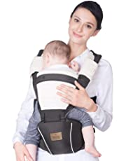Bebamour New Style Designer Baby Carrier and Baby Sling Carrier 2 in 1,Dark Grey