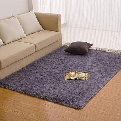 Morbuy Tapete Rectángulo Felpudos Alfombra Hogar Antideslizante Alfombras Piso Moqueta Mats Pad para Habitación (50 * 80cm, Gris Plateado)