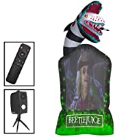 9 ft. Inflatable Living Projection Beetlejuice Tombstone WB Deals