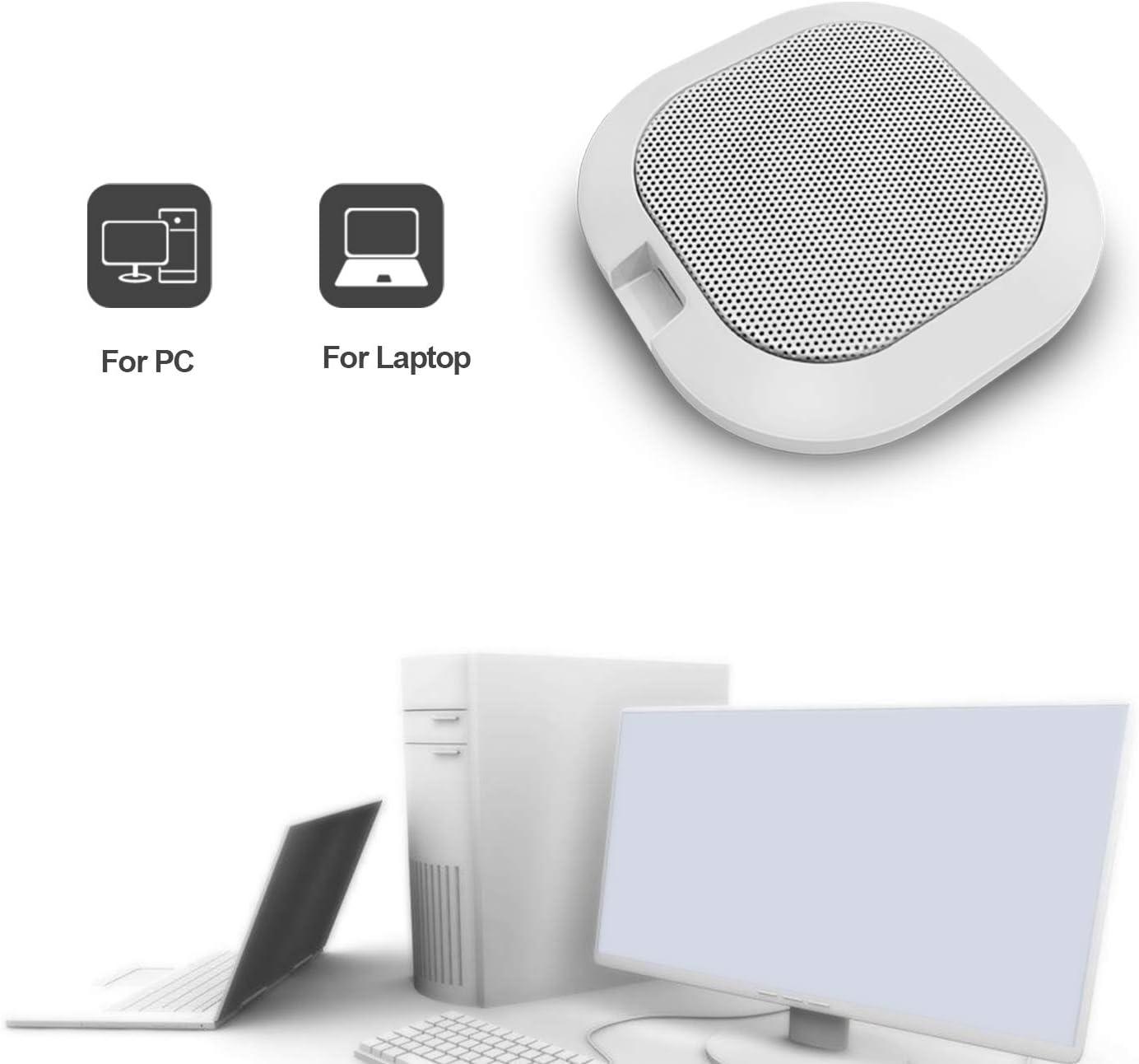 tragbarer Tisch f/ür Windows Computer Wei/ß Plug-Play Desktop Omnidirektionales Computermikrofon mit hoher Empfindlichkeit Meeting 42 dB