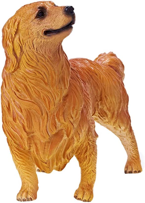 RECUR Golden Retriever Toy Figure Statue for Dog Lovers Realistic Puppy Model 7.5 Dog Figurines toys Ideal Gift Collectible for Collectors Kids Toys Decorative Home D/écor