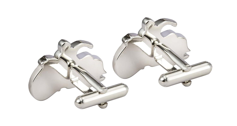 Silver Harley Davidson Motorbike Cufflinks