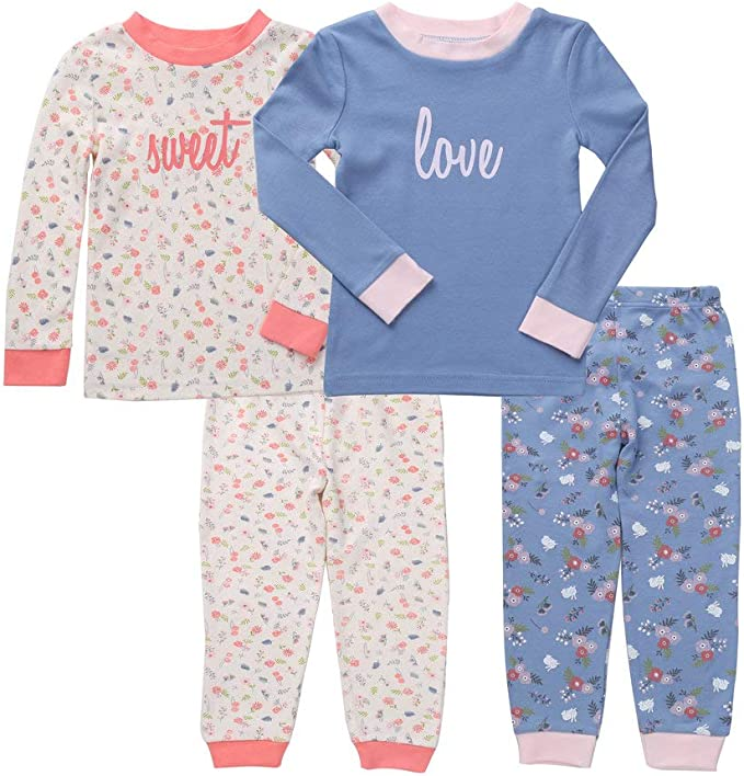 Asher and Olivia Boys 2-Pack Pajama Set Baby Clothes Pjs Sleepers Footless Sleepwear