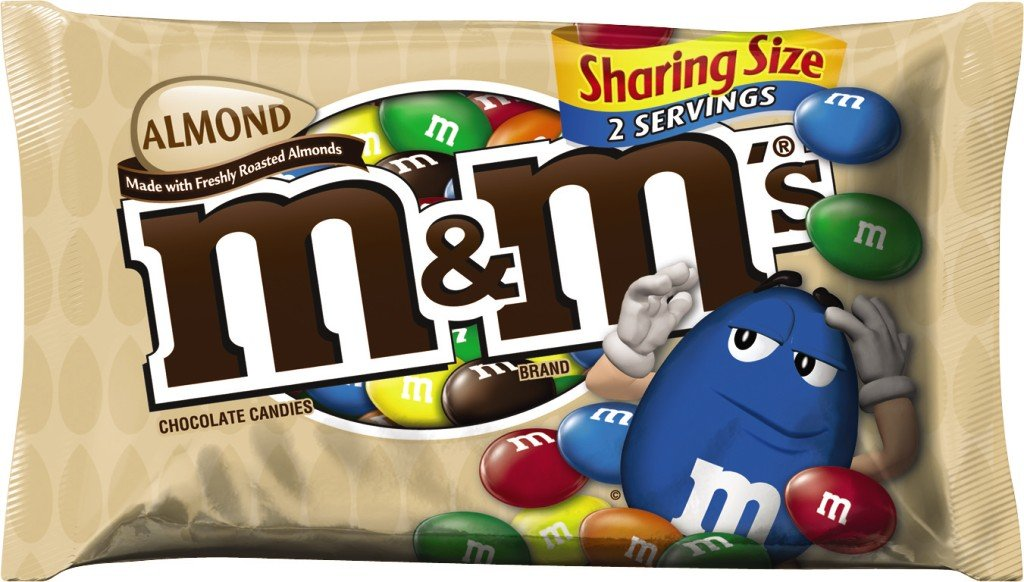 M&M'S Almond Chocolate Candy Sharing Size 2.83-Ounce Pouch 18-Count Box by M&M'S (Image #4)