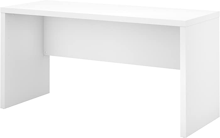 Office by kathy ireland Echo 60W Credenza Desk in Pure White