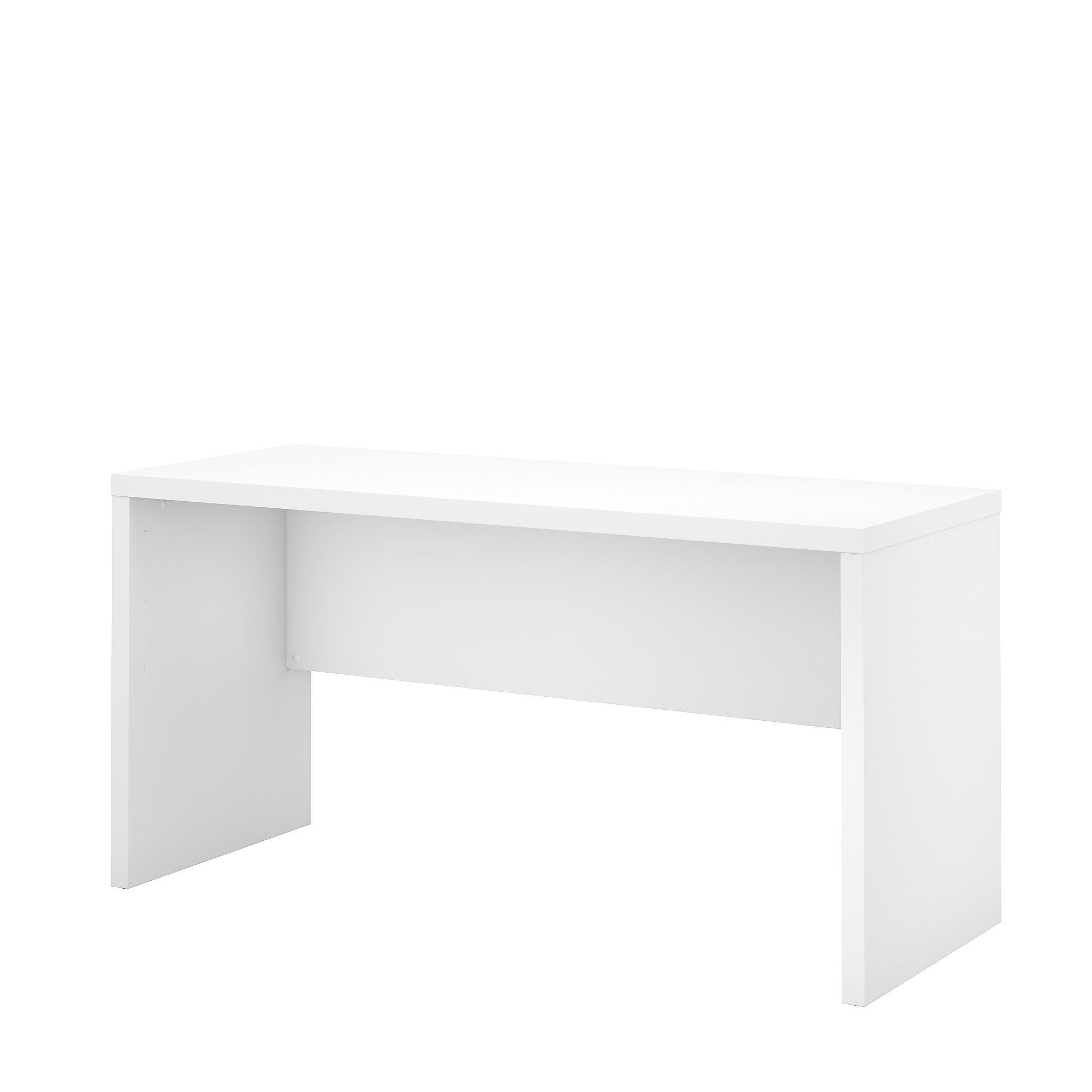 Office by kathy ireland Echo 60W Credenza Desk in Pure White by Office by kathy ireland