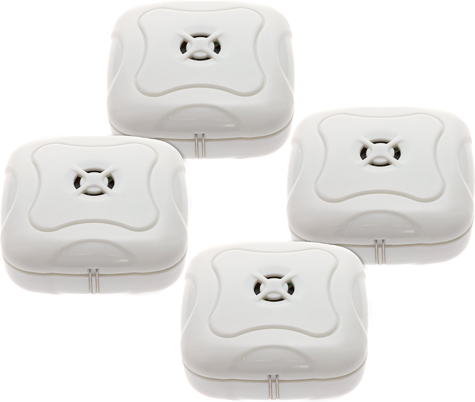 4 Pack Water Leak Detector - 95 Db Flood Detection Alarm Sensor for Bathrooms, Basements, and Kitchens by Mindful Design (White) by Mindful Design