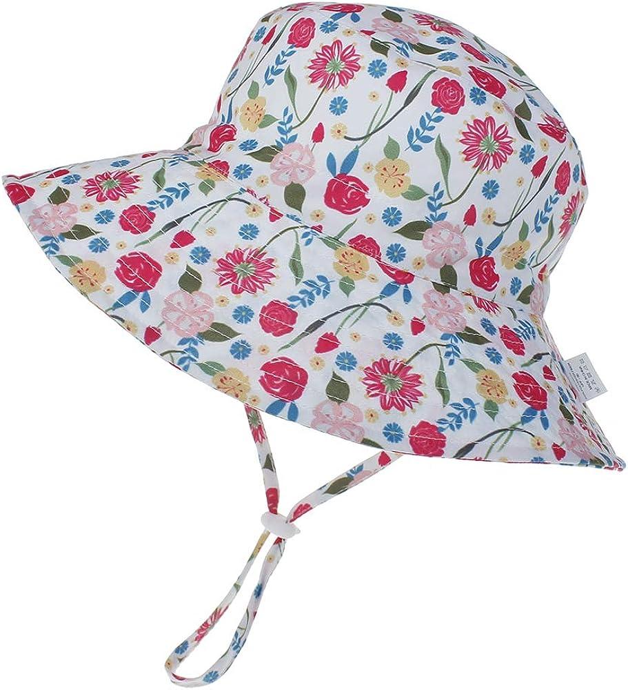 Protezione Solare Tesa Larga per Nuoto Spiaggia Piscina LACOFIA Cappello Regolabile da Sole per Neonato Berretto Estivo per Bambino con UPF 50