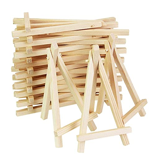Kbnian Mini caballete de exhibición de mesa de madera para ...