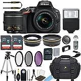 Nikon D5600 24.2 MP DSLR Camera (Black) with AF-P DX NIKKOR 18-55mm f/3.5-5.6G VR Lens Bundle includes 64GB Memory + Filters + Deluxe Bag + Professional Accessories (25 Items)