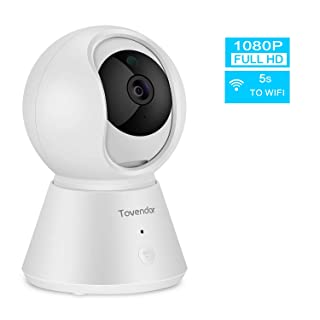 Tovendor Motion Tracking Security Camera, 1080P Home Baby Monitor with Sound Detection, Super IR Night Vision and Two Way Audio, 5s to Connect Wifi
