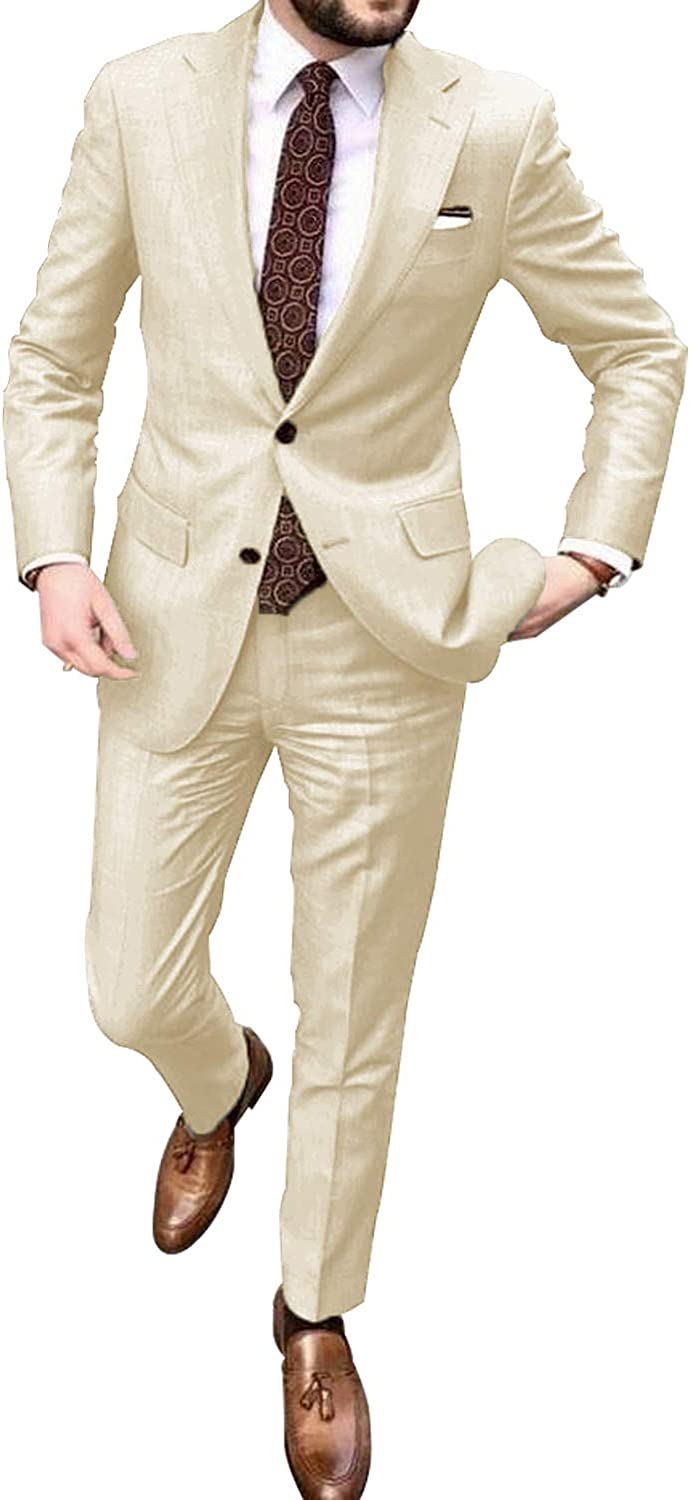 Yzhen Men S 2 Pieces Khaki Suits Wedding Suits For Men Groom Tuxedos At Amazon Men S Clothing Store