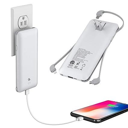 Amazon.com: Cargador de batería externa con cable de 3 tipos ...
