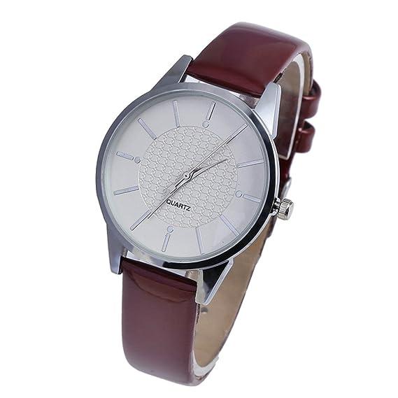 Relojes para Prime Day Ofertas 2018!!Relojes de pulsera para mujer, de lujo, de piel sintética, para hombre, reloj deportivo multifunción, de cuarzo, ...