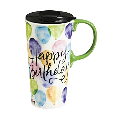 Cypress casa feliz cumpleaños de cerámica de viaje taza de ...