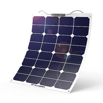 ALLPOWERS 18V 12V 50W Bendable SunPower Solar Panel Water/ Shock/ Dust Resistant Power Solar  sc 1 st  Amazon.com & Amazon.com : ALLPOWERS 18V 12V 50W Bendable SunPower Solar Panel ...